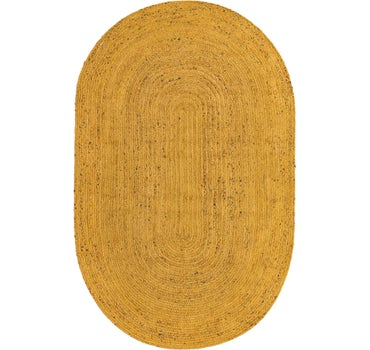 5' x 8' Braided Jute Oval Rug