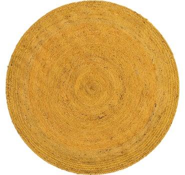 5' x 5' Braided Jute Round Rug