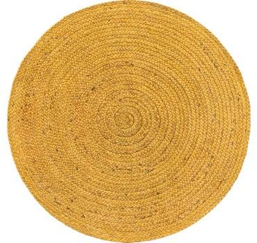 3' 3 x 3' 3 Braided Jute Round Rug