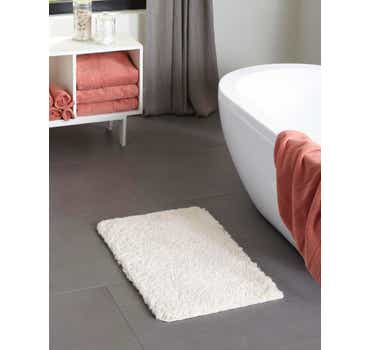 Image of  Porcelain White Bano Luxe Bath Mat Rug