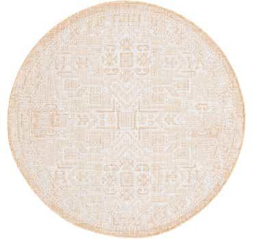 4' x 4' Outdoor Aztec Round Rug