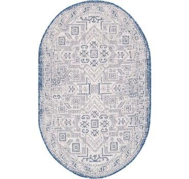 100cm x 160cm Outdoor Aztec Oval Rug