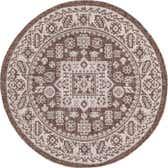 3' 3 x 3' 3 Outdoor Aztec Round Rug thumbnail