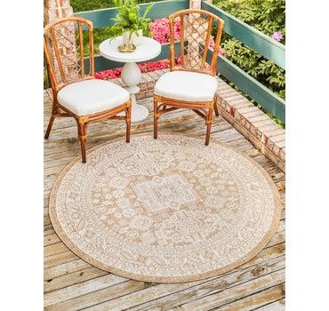 10' x 10' Outdoor Aztec Round Rug