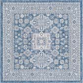 5' 3 x 5' 3 Outdoor Aztec Square Rug thumbnail
