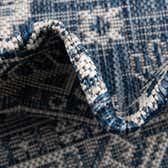 5' 3 x 7' 10 Outdoor Aztec Oval Rug thumbnail