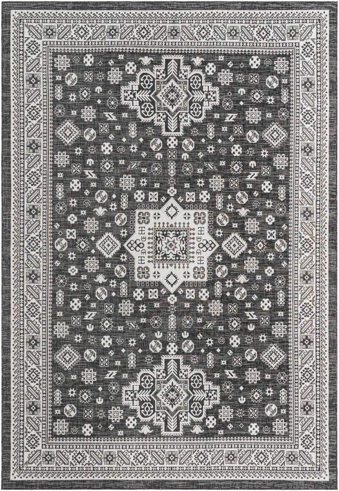 10' x 14' Outdoor Aztec Rug main image
