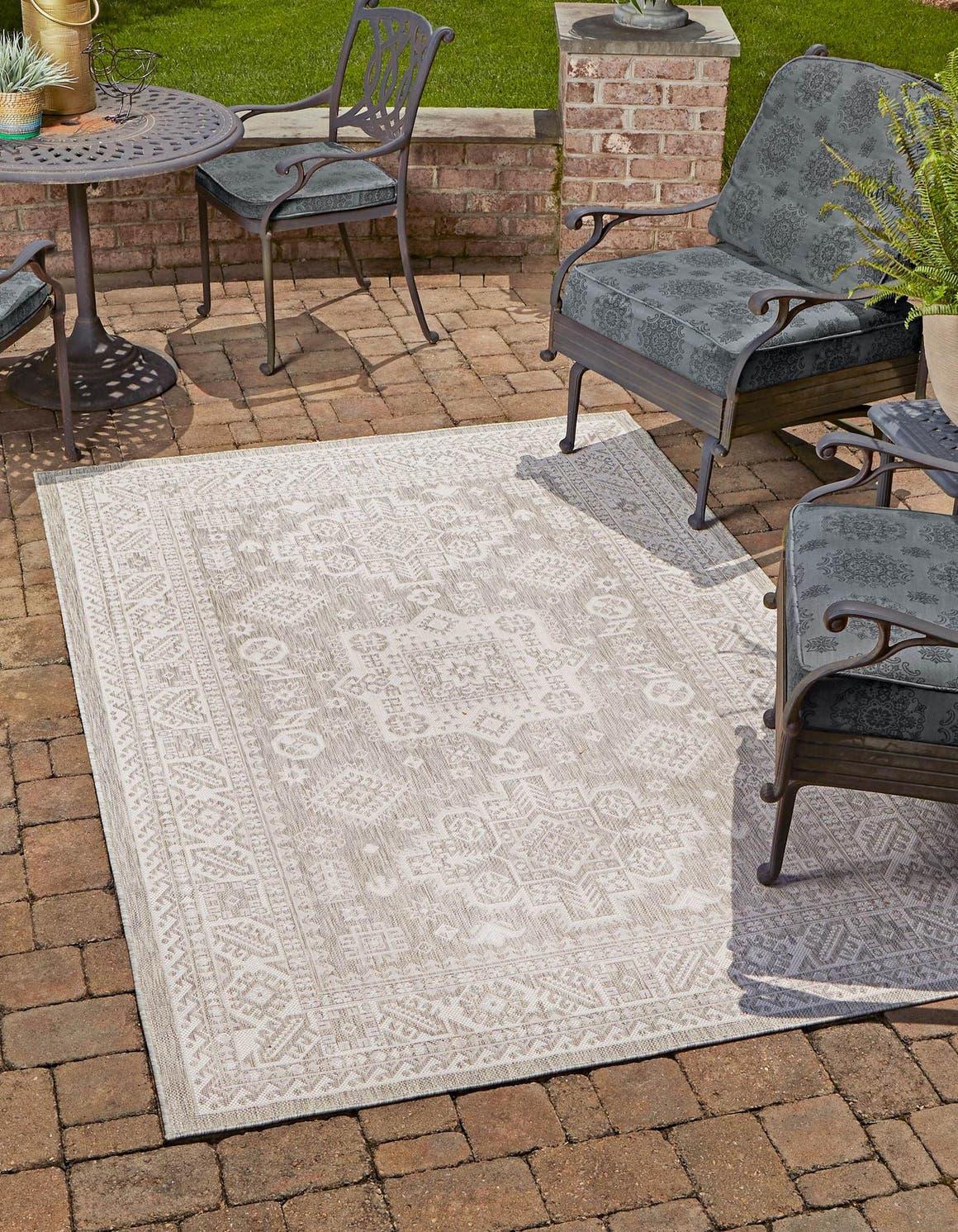 5' 3 x 7' 10 Outdoor Aztec Rug main image
