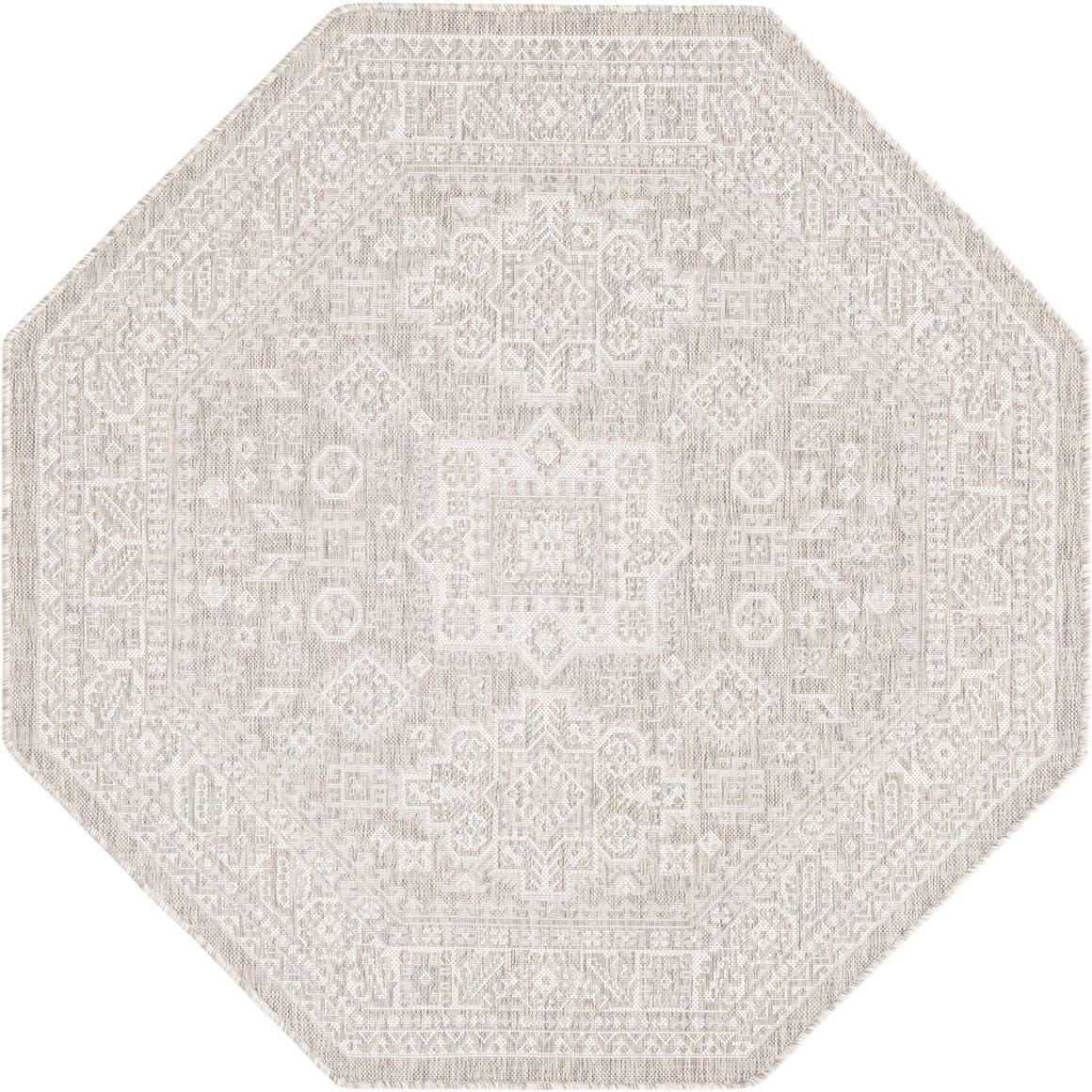 5' 3 x 5' 3 Outdoor Aztec Octagon Rug main image