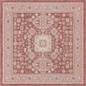 7' 10 x 7' 10 Outdoor Aztec Square Rug thumbnail