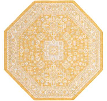 7' 10 x 7' 10 Outdoor Aztec Octagon Rug