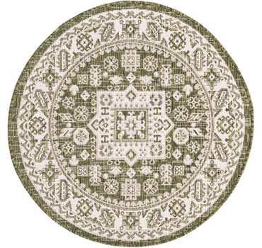 Image of 3' 3 x 3' 3 Outdoor Aztec Round Rug