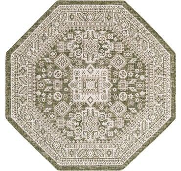 5' 3 x 5' 3 Outdoor Aztec Octagon Rug