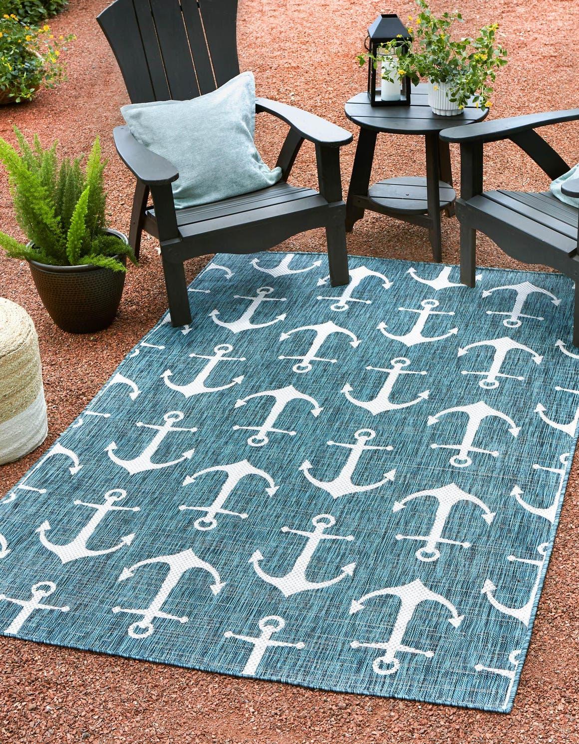 5' 3 x 7' 10 Outdoor Coastal Rug main image