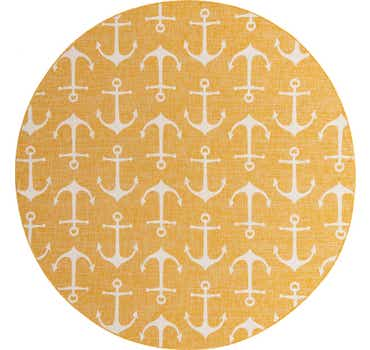 10' x 10' Outdoor Coastal Round Rug