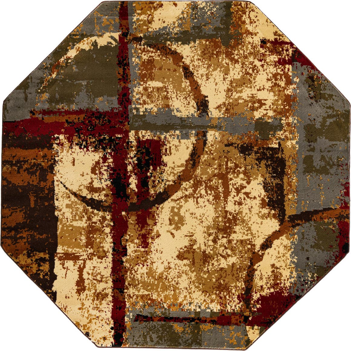 213cm x 213cm Coffee Shop Octagon Rug main image