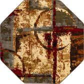 183cm x 183cm Coffee Shop Octagon Rug thumbnail