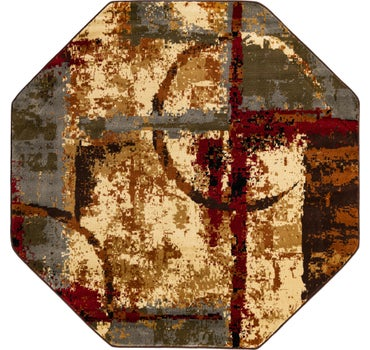 183cm x 183cm Coffee Shop Octagon Rug main image