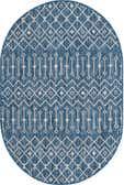 4' x 6' Outdoor Trellis Oval Rug thumbnail