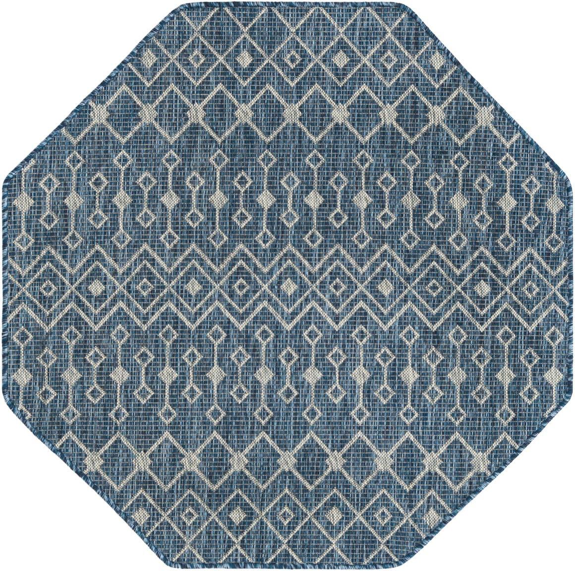 4' x 4' Outdoor Trellis Octagon Rug main image