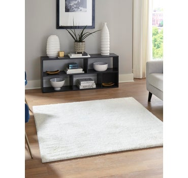 5' x 5' Solid Frieze Square Rug main image