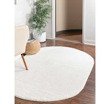 3' 3 x 5' 3 Solid Frieze Oval Rug