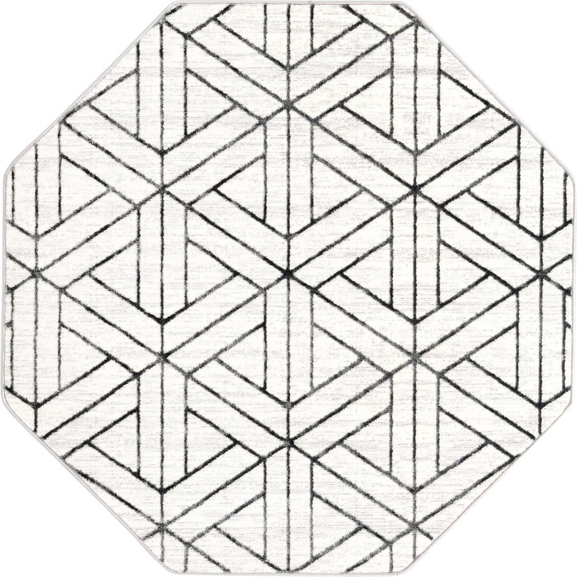 5' 3 x 5' 3 Lattice Trellis Octagon Rug main image