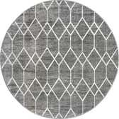 7' x 7' Lattice Trellis Round Rug thumbnail