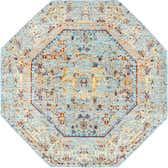 4' x 4' Aqua Octagon Rug thumbnail