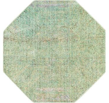 4' x 4' Aqua Octagon Rug main image