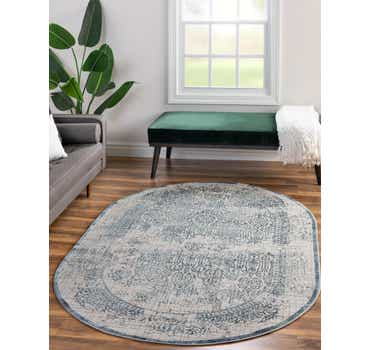 4' x 6' Chesterfield Oval Rug