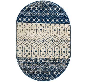 4' x 6' Moroccan Trellis Oval Rug