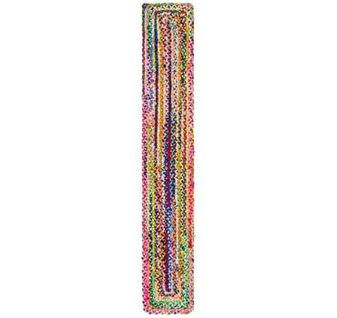 1' 2 x 8' Braided Chindi Runner Rug main image